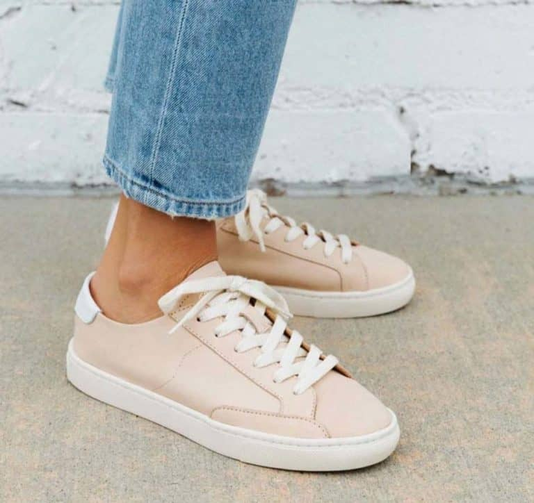 business casual leather sneakers for women