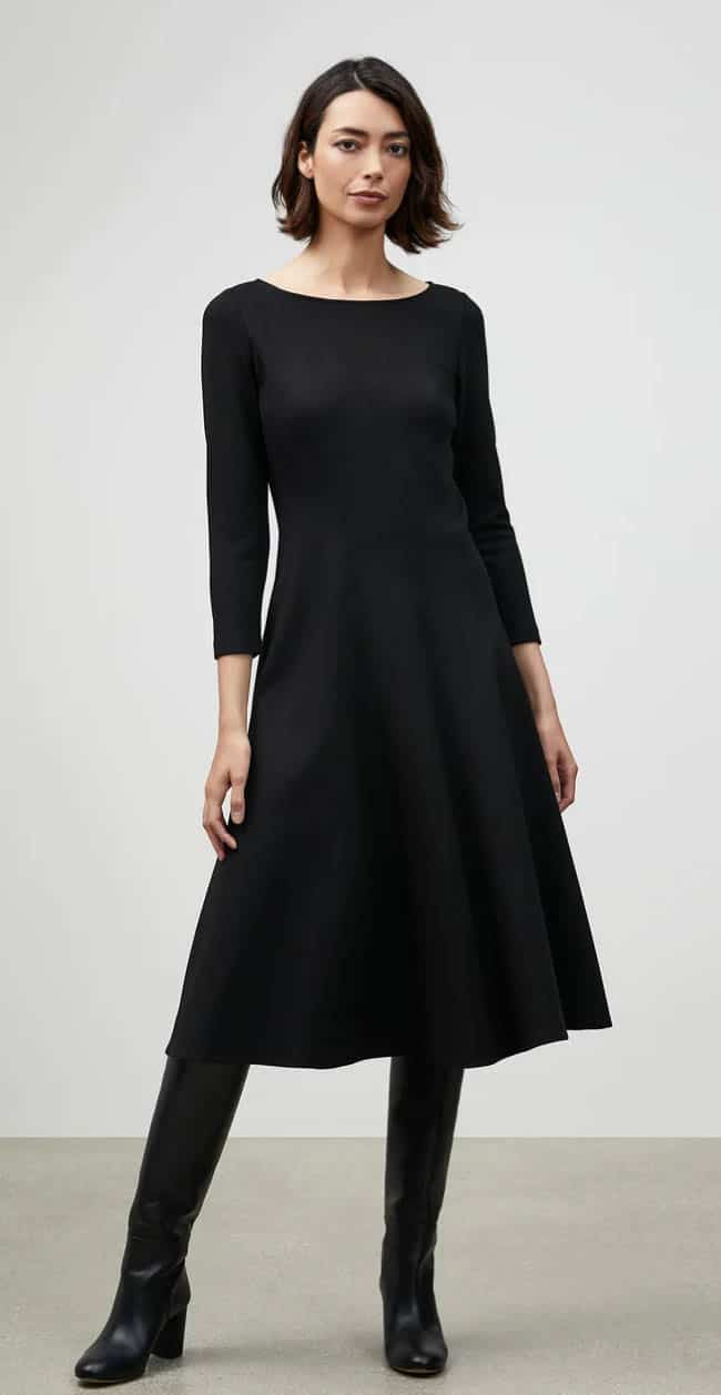 Lafayette 148, one of Next Level Wardrobe's recommended minimalist brands for plus size women
