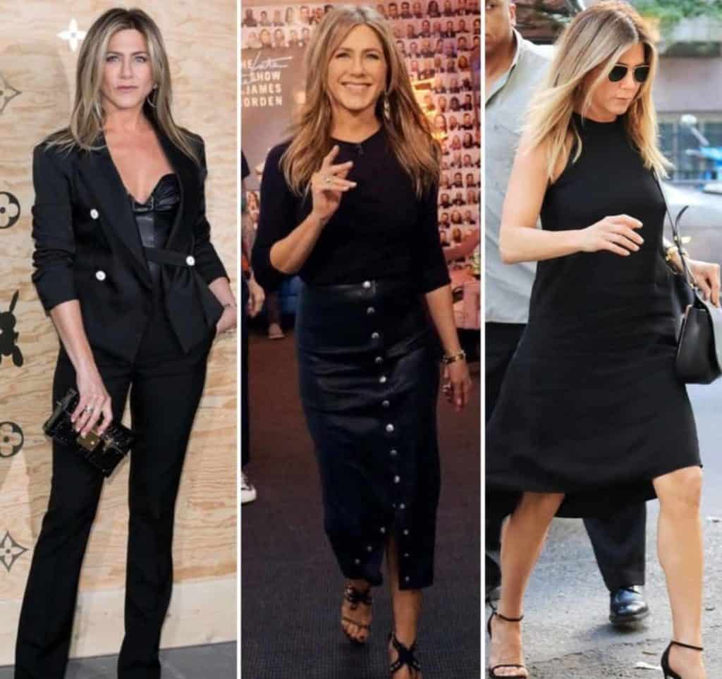 Jennifer Aniston style inspo - All black doesn't have to mean boring