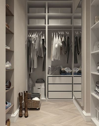 A White Minimalist Closet After A Image Consulting Closet Cleanout