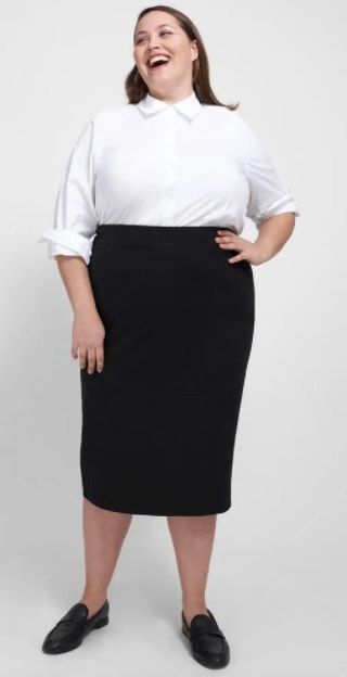 Universal Standard Erin Ponte Pencil Skirt For A Business Casual Look For Plus Size Women